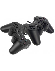 Kit X2 Joystick Gamepad Usb Targa Tg Play W2 12 Fire Vibra