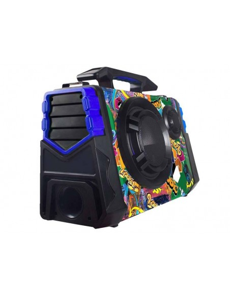 Parlante Portátil Bluetooth Telefunken Street6 Led Micrófono