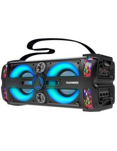 Parlante Portátil Bluetooth Telefunken Neon 25 Led Micrófono 60W