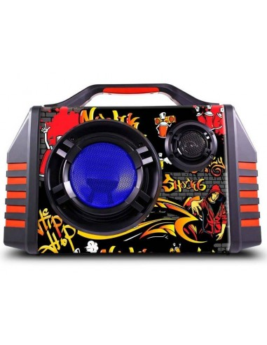 Parlante Bluetooth Portátil Novik Shock 6-2 Usb Mic Graba Fm BATERIA 6h.