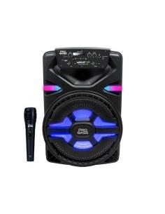Bafle Portátil Pro Bass Wave-12 Bluetooth Batería 400w Micrófono Luz LED