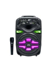 "Bafle Portátil Pro Bass Wave-8 Bluetooth Mp3 250w 8"" Micrófono Karaoke"