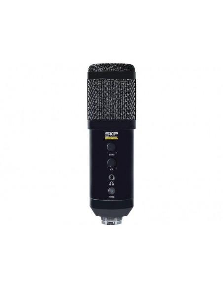 Micrófono Pc Trípode De Mesa Usb Skp Podcast 400 Home Office