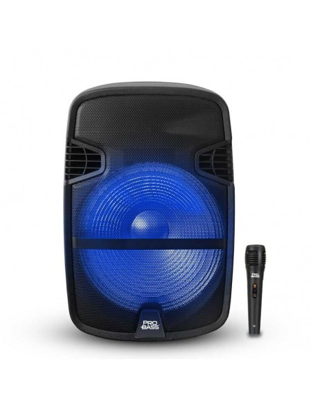 Bafle Portátil Probass Street 12 Bluetooth Mic 800W Bateria