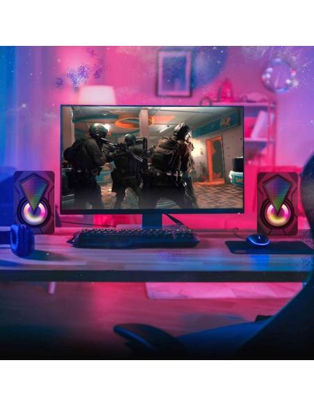 Parlantes PC Gamer Usb Targa DiamondX 2x4w Led Stereo