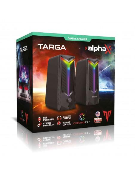 Parlantes PC Gamer Usb Targa AlphaX 16w Led Stereo Auriculares